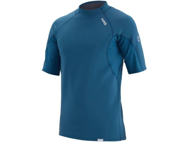 NRS HydroSkin 0.5 Short Sleeve Shirt Men poseidon
